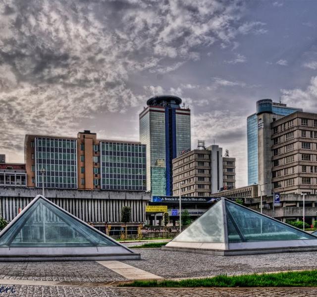 Vista città di Brescia - cloud sicuro
